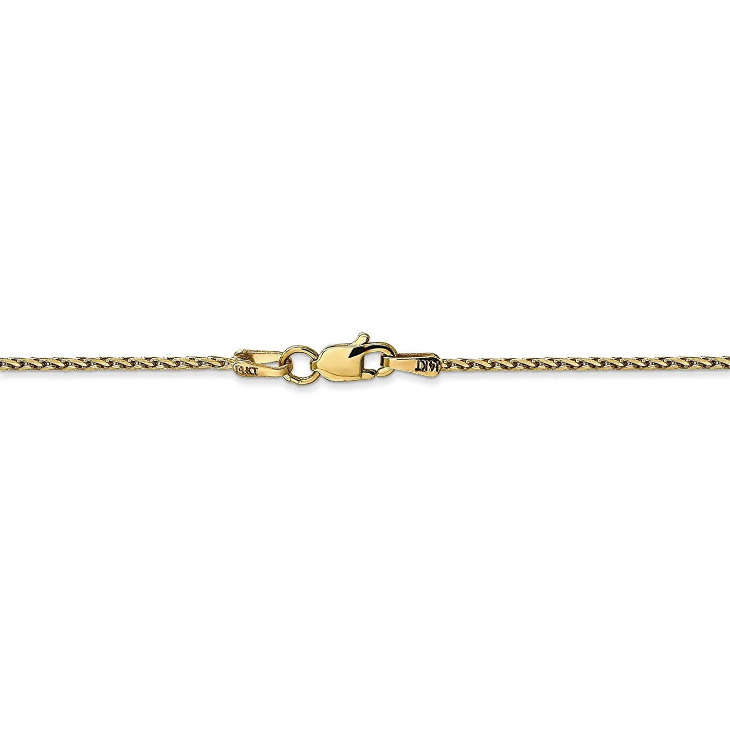 14k Yellow Gold 1.5mm Diamond-Cut Wheat Chain Necklace Bracelet Anklet 6-30