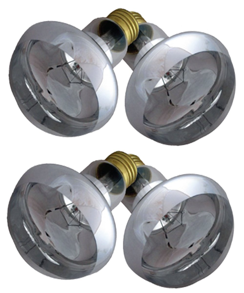 Blue Spotted 4 Sunning Heat Lamps, 100 Watt (2 Value Packs) For Use With Terrariums And Provides A Basking Lamp For Basking Reptiles, Amphibians, Small Animals, Birds, And Farm Animals by Blue Spotted (Image #2)