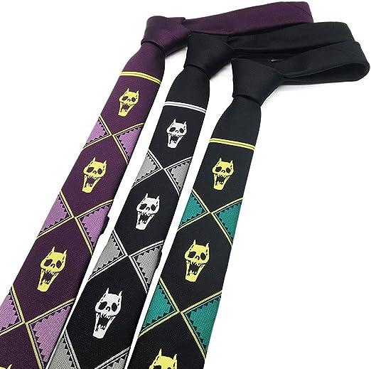 JoJos Bizarre Adventure Killer Queen Kira Yoshikage Skull Tie ...