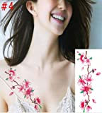 3D Temporary Fake Floral Tattoo Body Art Tattoos