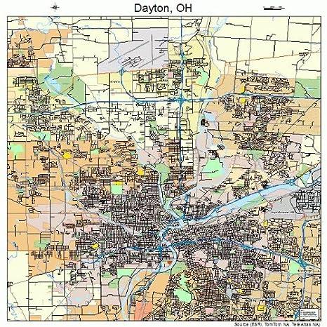 Amazon Com Image Trader Large Street Road Map Of Dayton Ohio Oh