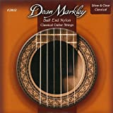 Dean Markley Ball End Nylon Classical Guitar Strings, 28-42, 2802, Silver and Clear