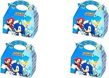 ALMACENESADAN 0654, Pack 4 cajitas de Carton para chuches Sonic, para Fiestas y cumpleaños: Amazon.es: Juguetes y juegos
