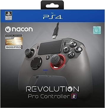 NACON PS4OFPADREV2RIG Mando y Volante Gamepad Playstation 4 Negro ...