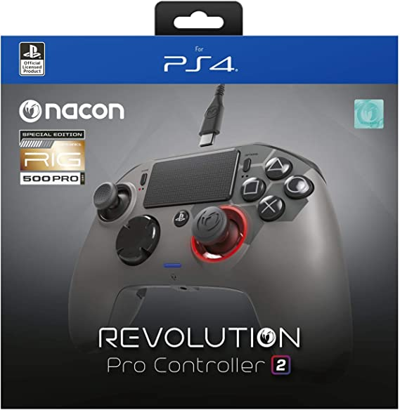 NACON PS4OFPADREV2RIG Mando y Volante Gamepad Playstation 4 Negro - Volante/Mando (Gamepad, Playstation 4, Analógico/Digital, Options,Share, Alámbrico, USB 3.0): Amazon.es: Juguetes y juegos