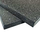 Rubber-Cal ''Shark Tooth'' Heavy-Duty Matting - 3/4-inch Thick Rubber Mats - Black - Made in the USA - 3/4 inch thick x 4ft x 6ft