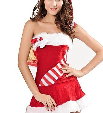e37de60fe1 Amazon.com  Christmas Costume Party Art Tight Dress Sexy Suit ...