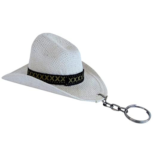 Amazon.com  Western Mini White Cowboy Hat Keychain  Clothing 933e494dee58