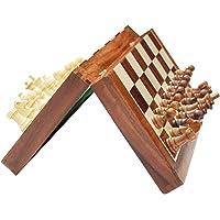 لوحة شطرنج كلاسيك خشبية قابلة للطي، طقم خشبي 3 في 1 للعب الشطرنج والداما والطاولة