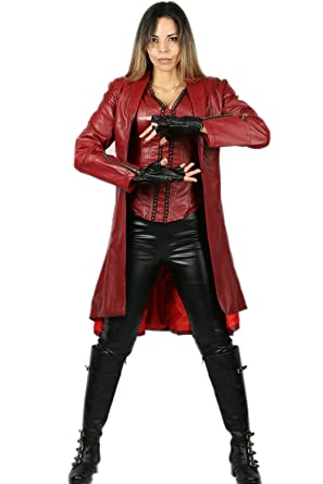 Amazon.com: Scarlet Witch Costume for Supergirl Hallloween Cosplay ...