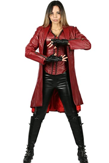 ccd9cd1e4 Amazon.com: Xcoser Scarlet Witch Costume for Supergirl Hallloween Cosplay:  Clothing