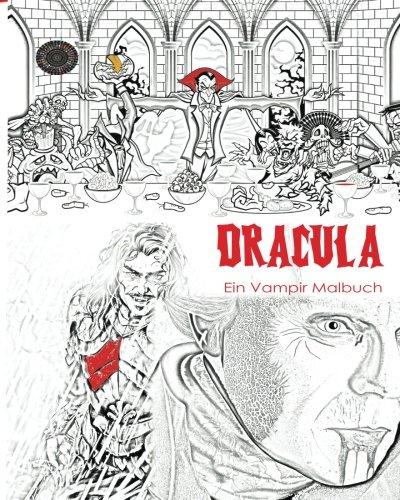 Dracula Malbuch: Stressfreies Erwachsenen Malbuch und Mandalas von