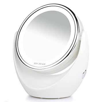 Amazon.com: Double Sided Natural LED Lighted Makeup Mirror,1x/7x ...