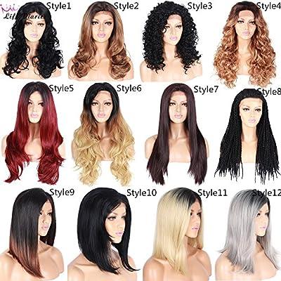 Diferentes estilos onda rizado recta trenzado peluca Ombre Rubio ...