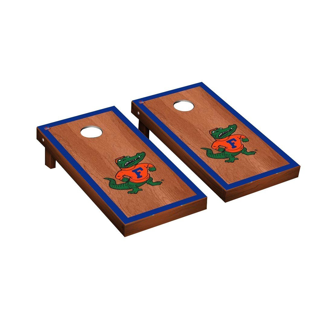 Victory Tailgate NCAA Florida Gators UF Rosewood Stained Border Blue Version 2 Cornhole Game Set