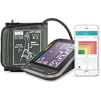 1byone Tensiómetros de brazo eléctricos inalámbrica con App para Android e IOS, Pantalla LCD , FDA y CE,almacena hasta 120 lecturas para 2 usuarios-negro