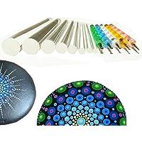 Mandala Rock Painting Pen Dot Dotting Tools Stencil Brush Set 12 PCS Flat Head 4mm 5mm 6mm 8mm 10mm 12mm 14mm Diameter 5 Stylus (set1)