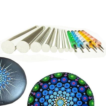 Amazon Com Mandala Rock Painting Pen Dot Dotting Tools Stencil
