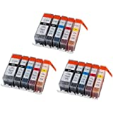 15 Pack New Compatible Canon PGI-220 CLI-221K CLI-221C CLI-221M CLI-221Y Inkjet Cartridge for use in IP3600,IP4600,IP4700,MP540,MP550,MP560,MP620,MP620B,MP630,MP640,MP980,MP990,MX860,MX870 Sold by Karl Aiken