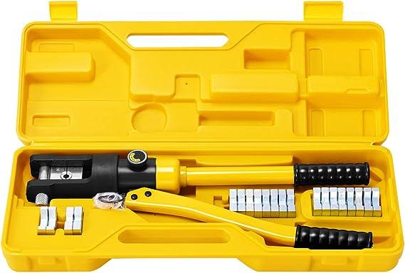 SHUGJAN Multifuncional crimpadora 10-35mm Terminales de trinquete punteras huecas Crimper herramienta de engaste de acero al carbono cabeza de pinza Accesorios de bricolaje herramientas de reparaci/ón