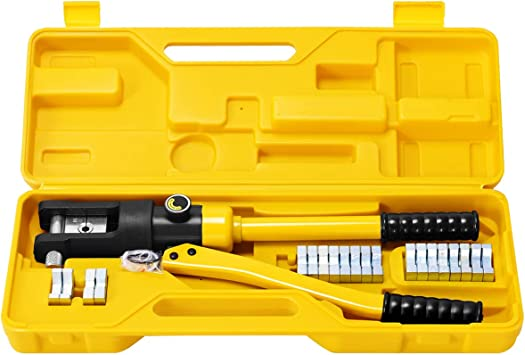 16 Ton Hydraulic Wire Crimper Crimping Tool Battery Cable Lug Terminal Tool UK