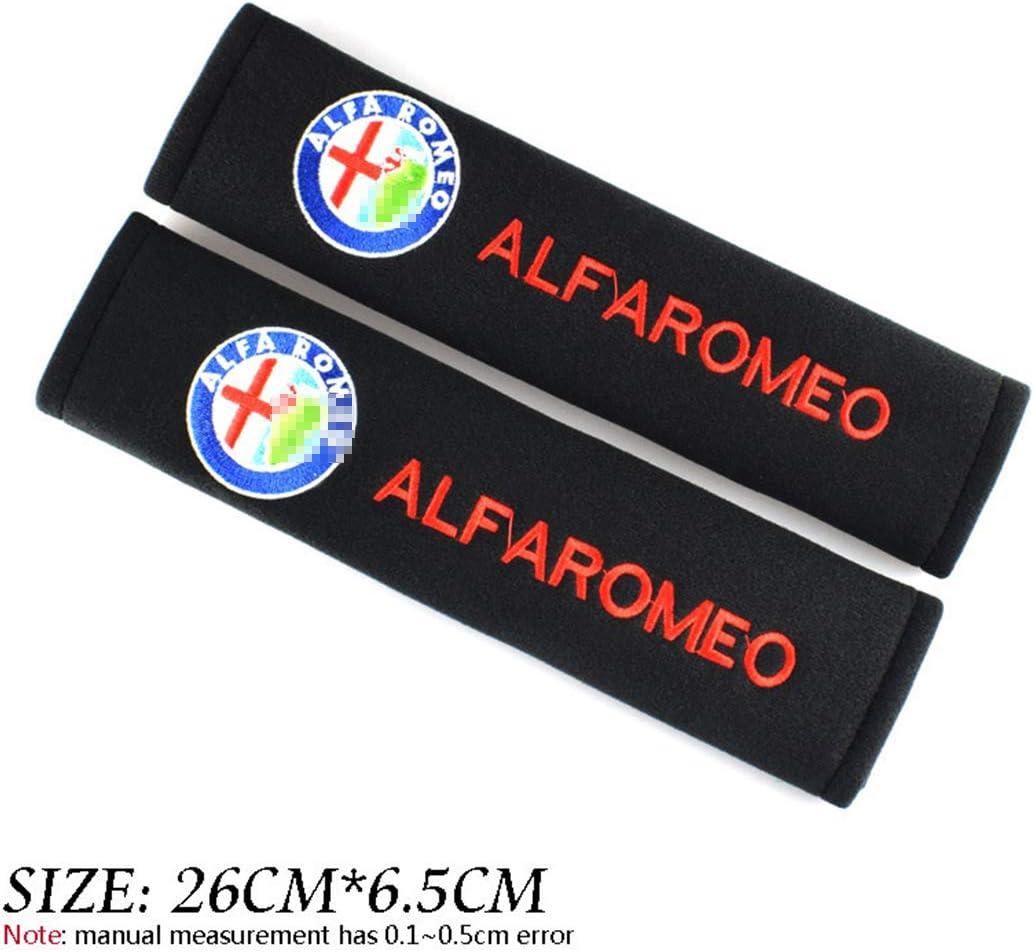 LLCWER 2pcs Sicherheitsgurtpolster Baumwolle Mit Automarke Logo Schulter Sicherheitsgurtbezug Sicherheit F/üR Alfa Romeo