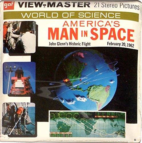 America's Man in Space John Glenn's Historic Flight the Mercury Project 3d View-Master 3 Reel Packet