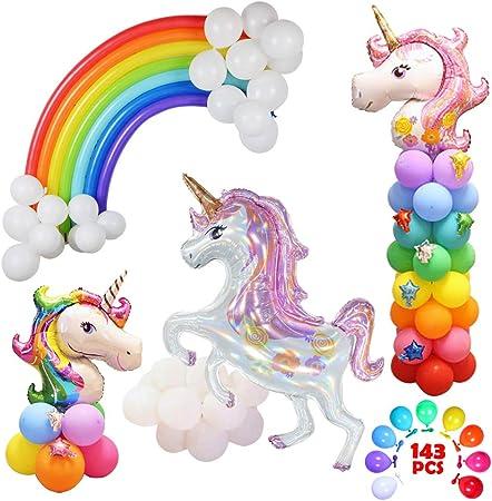 "rainbow, birthday Foil Balloon Large 33/"" Rainbow Color Unicorn Mylar"