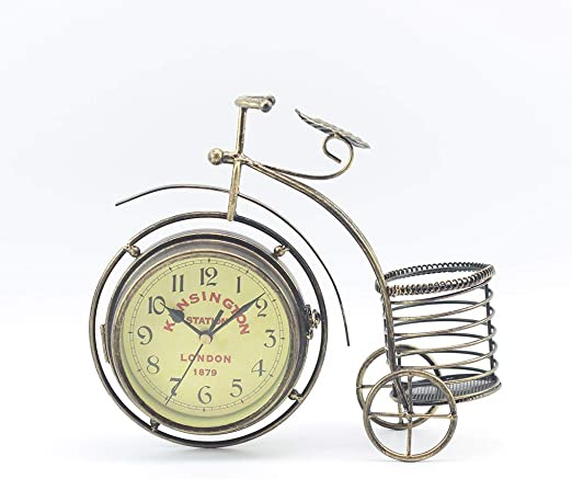 F-blue Bicicleta Vintage Retro Reloj Bicicletas Hierro Silencio ...