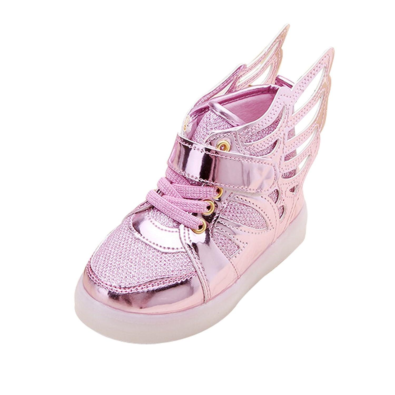 26de007b5f4104 LINGGO® Girls Wings Mid-tops Light Up Fashion Casual Sport Shoes (Toddler Little  Kid)