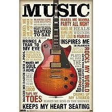 "HommomH 72"" x 80"" Shower Curtain Weights Resistant Waterproof Fabric International Music Inspires Me Guitar"