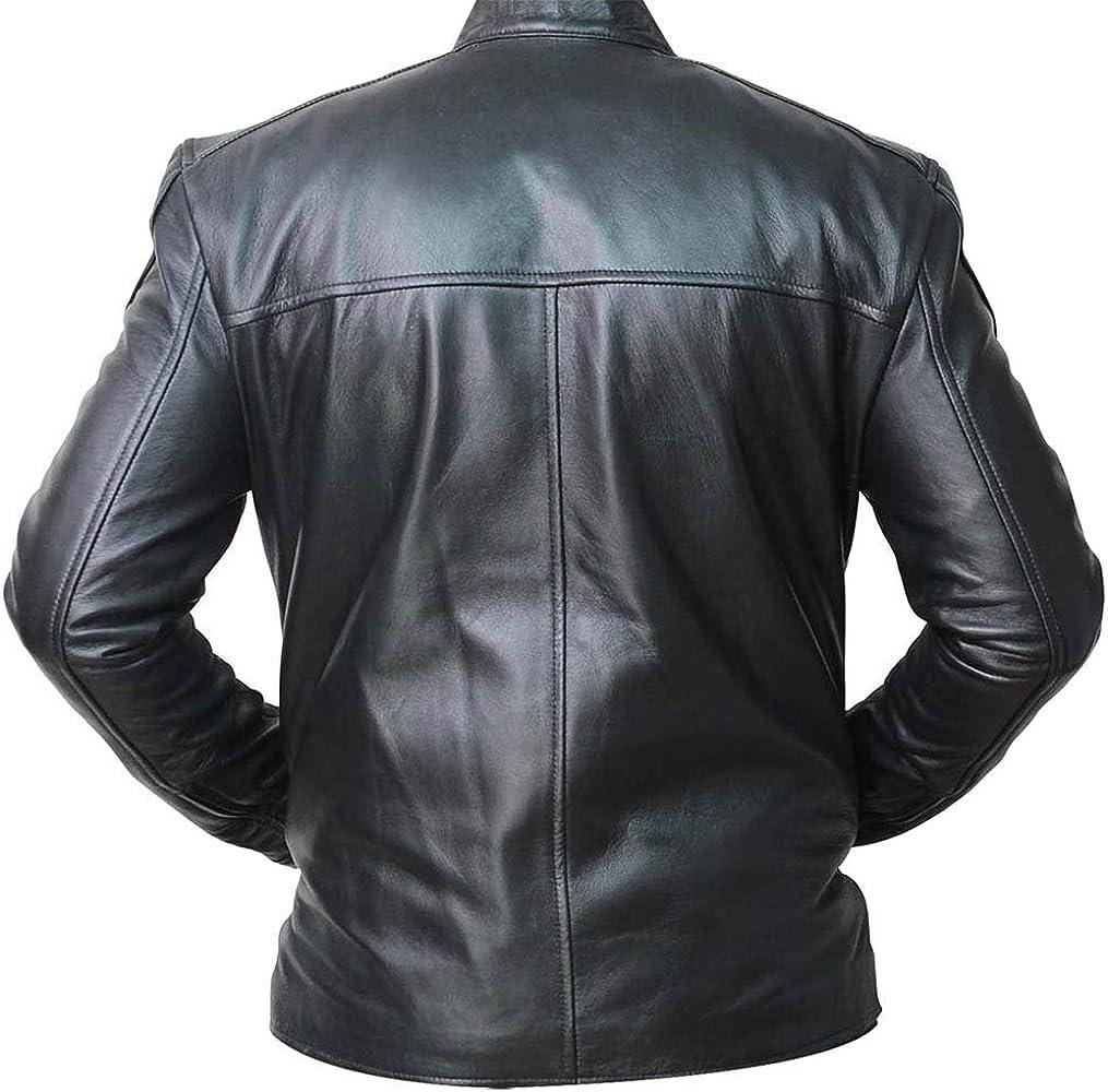 III-Fashions Aaron Paul Breaking Bad Jesse Pinkman Black Biker Leather Jacket