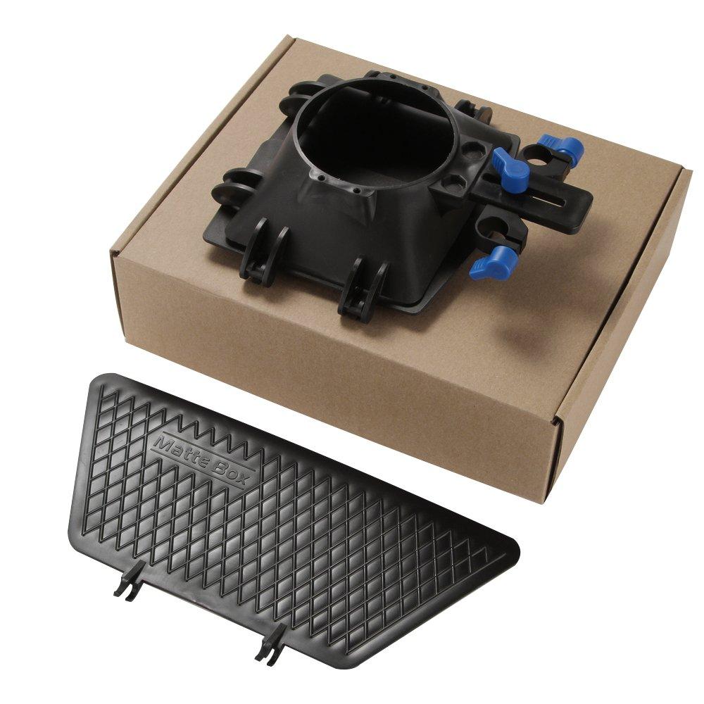 Fotga Matte Box Sunshade for 15mm Rod Support Follow Focus DSLR 5DII 60D D90 550D 600D