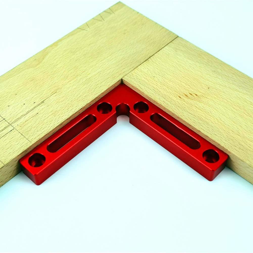 Without Box Holzbearbeitungswerkzeug 1pc L-Winkelklemmen f/ür Bilderrahmen 90 Grad-Positionierungswinkel 12 x 12 cm rechtwinklige Klemmen Schr/änke und Schubladen GCDN Aluminiumlegierung