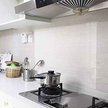 REDODECO 4Pcs Kitchen Backsplash Wallpaper Stickers Waterproof Oilproof High Temperature Resistant Transparent Environment-Friendly PVC - - Amazon .com