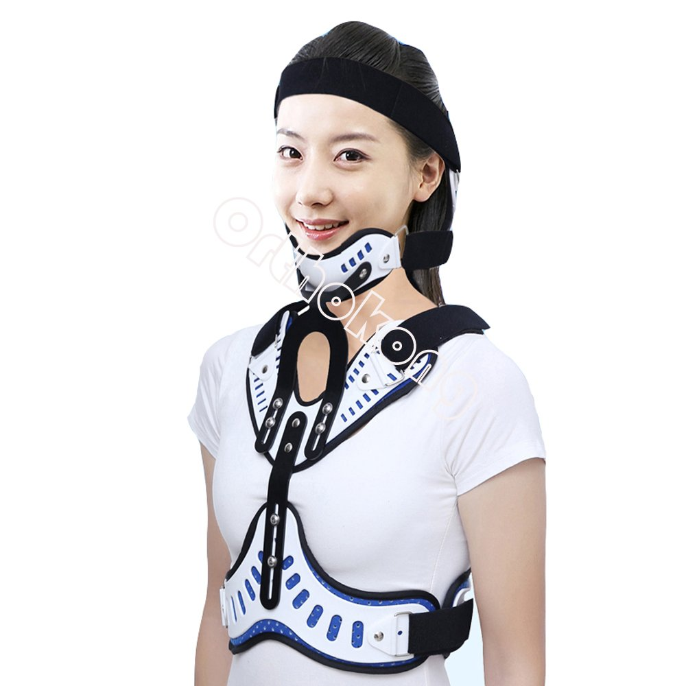 Head Neck Chest Orthosis Adjustable Cervical Thoracic Orthosis U Lumbar Support (Normal)