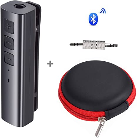 YouN sans fil Bluetooth 4.1/Audio Aux 3,5/mm adaptateur r/écepteur de musique Noir