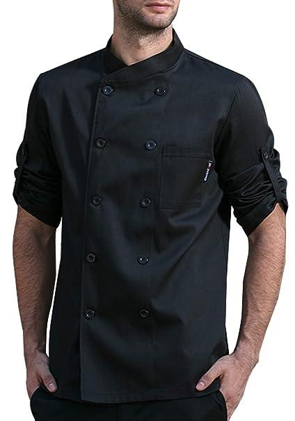 Amazon.com: BOUPIUN - Chaquetas de chef unisex con mangas ...