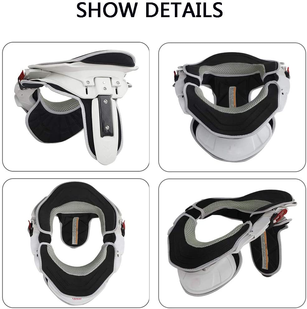 Offroad Neck Support Protector Motocross Neck Kart Neck Support for Relieves Pain Pressure in Spine,Yellow Adult Motorcycle Neck Brace