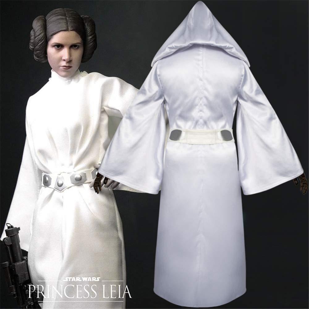 KLJJQAQ Halloween Cosplay Show Disfraz de Princesa Leia Vestido ...