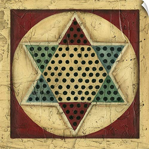Chinese Checkers Love - CANVAS ON DEMAND Antique Chinese Checkers Wall Peel Art Print, 30