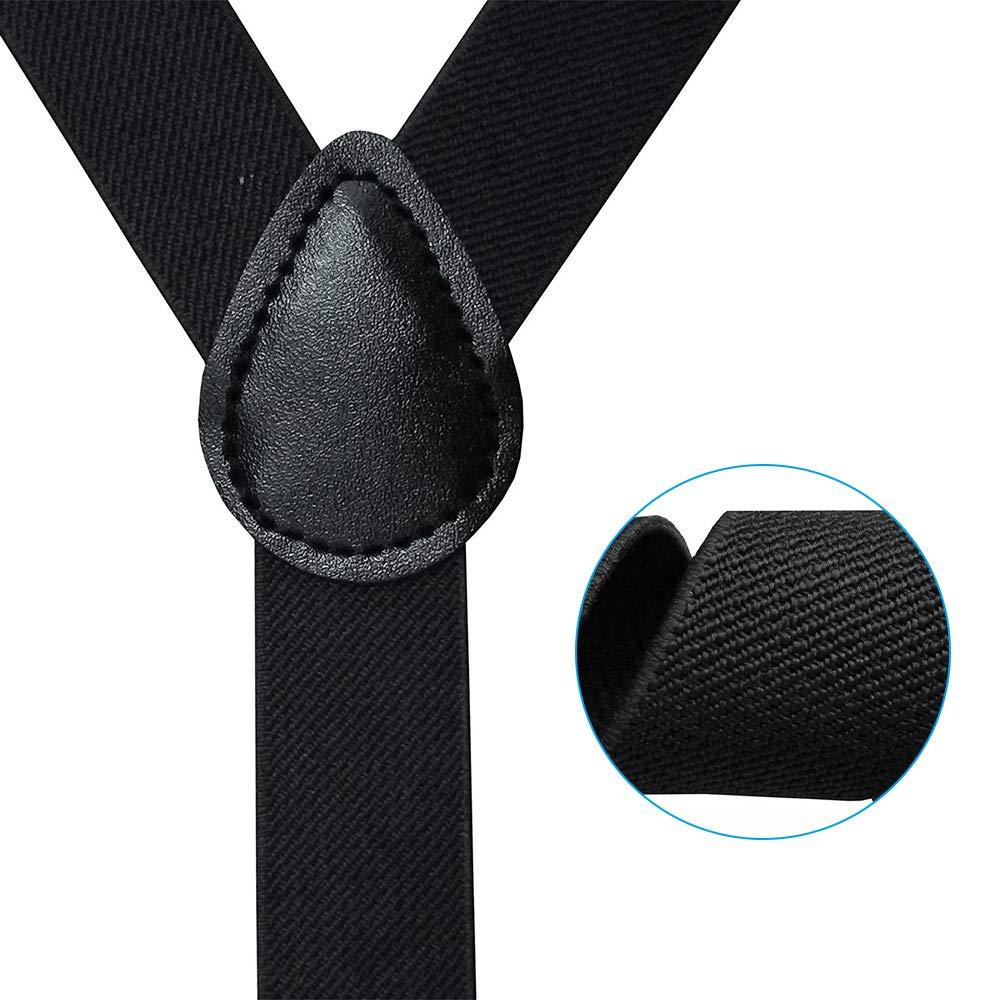 tirantes y pajarita Tirantes Ajustables con clips de metal de alta resistencia para hombre y mujer Gobesty Tirantes el/ásticos en forma de Y