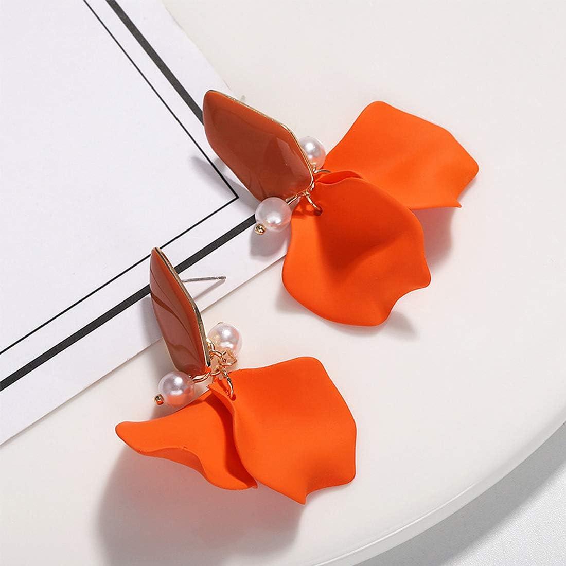 Longue Acrylique P/étale Baisse Pendre Des boucles doreilles Boh/émien R/ésine D/éclaration Des boucles doreilles pour Femmes Filles Cadeaux Bijoux