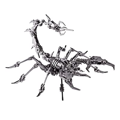 HMANE Scorpion King 3D Stainless Steel Puzzle Jigsaw, DIY Assembled Detachable Model Puzzle Toys Ornaments: Toys & Games