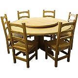 plo gartentisch rund 160 cm f r 7 8 personen teakholztisch mit drehteller 90 cm. Black Bedroom Furniture Sets. Home Design Ideas