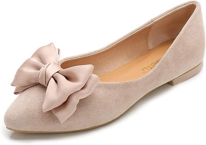 Autumn Bow Flat Shoes Fashion Wild