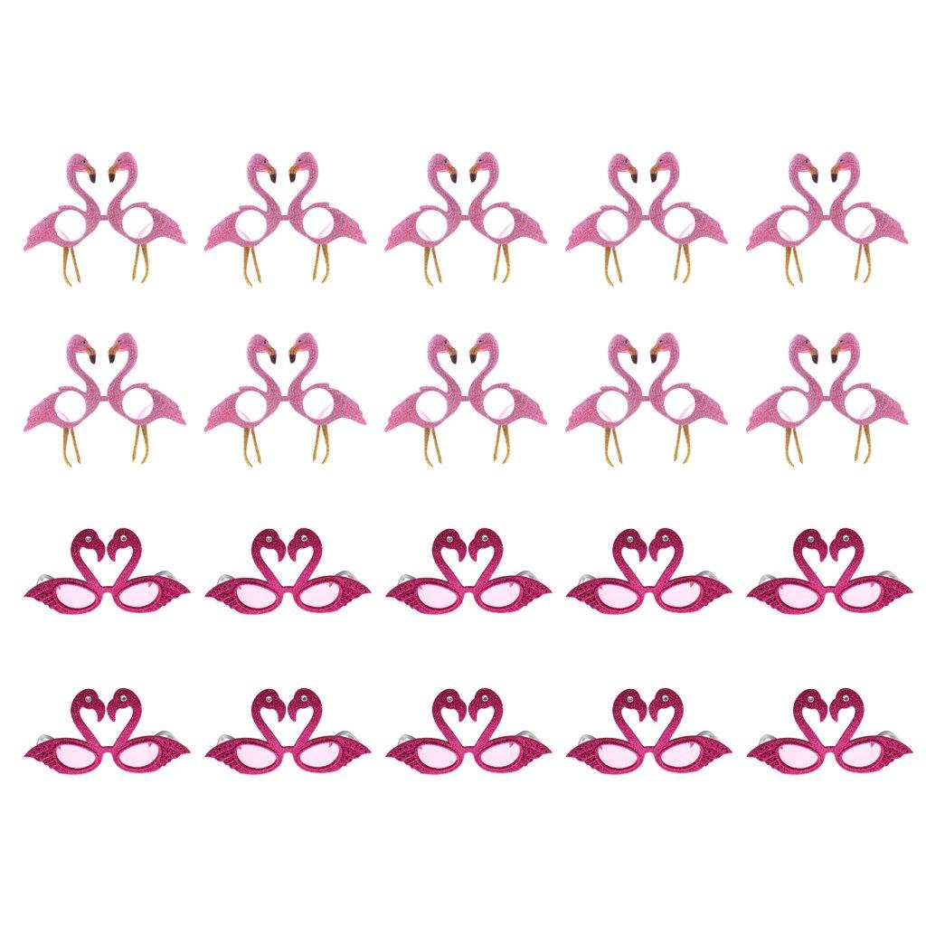 B Blesiya 20x Gafas de Sol Rosa Tropical Flamingo Fiesta Playa Fiesta de Disfraces Halloween