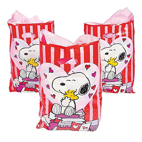 Peanuts Goody Bags, Color – Multi Colored , Size – 12″ x 17″ – 50 Pcs. Per Set