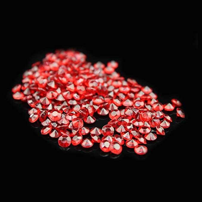 Liying Acrylic Diamond Arts /& Crafts 0.8 Inch 200 Pcs Acrylic Faux Round Confetti Diamond Crystals Treasure Gems for Table Scatters Wedding Decoration Gold Vase Fillers