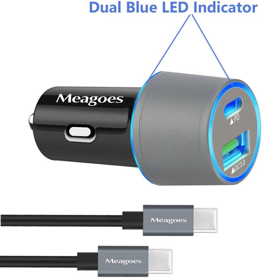 Meagoes Cargador de coche USB PD para Google Pixel 2/XL, Moto Z2 ...